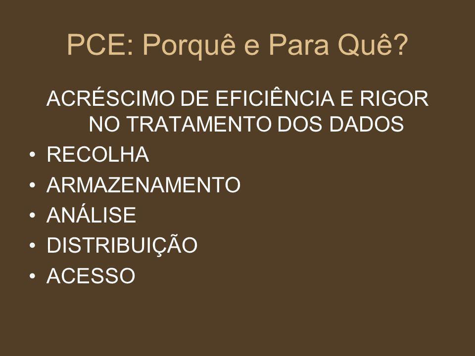 ACRÉSCIMO DE EFICIÊNCIA E RIGOR NO TRATAMENTO DOS DADOS