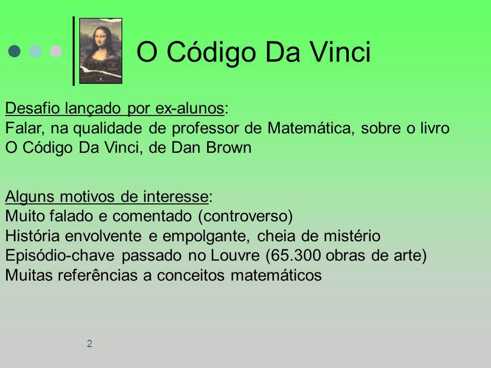 O Código Da Vinci Desafio lançado por ex-alunos: