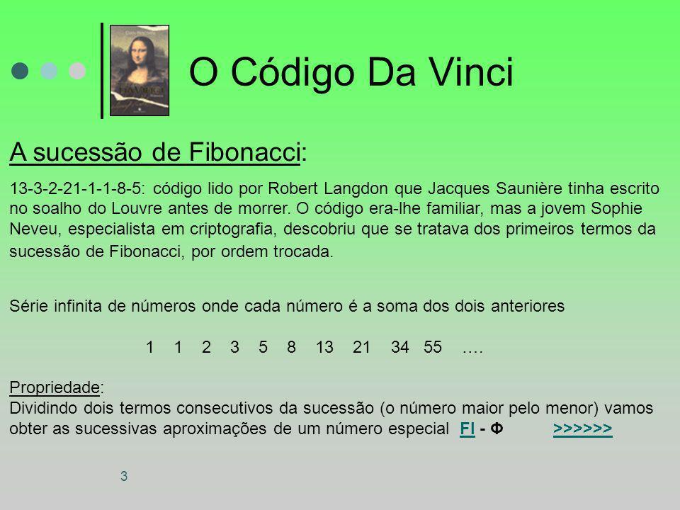 O Código Da Vinci A sucessão de Fibonacci: