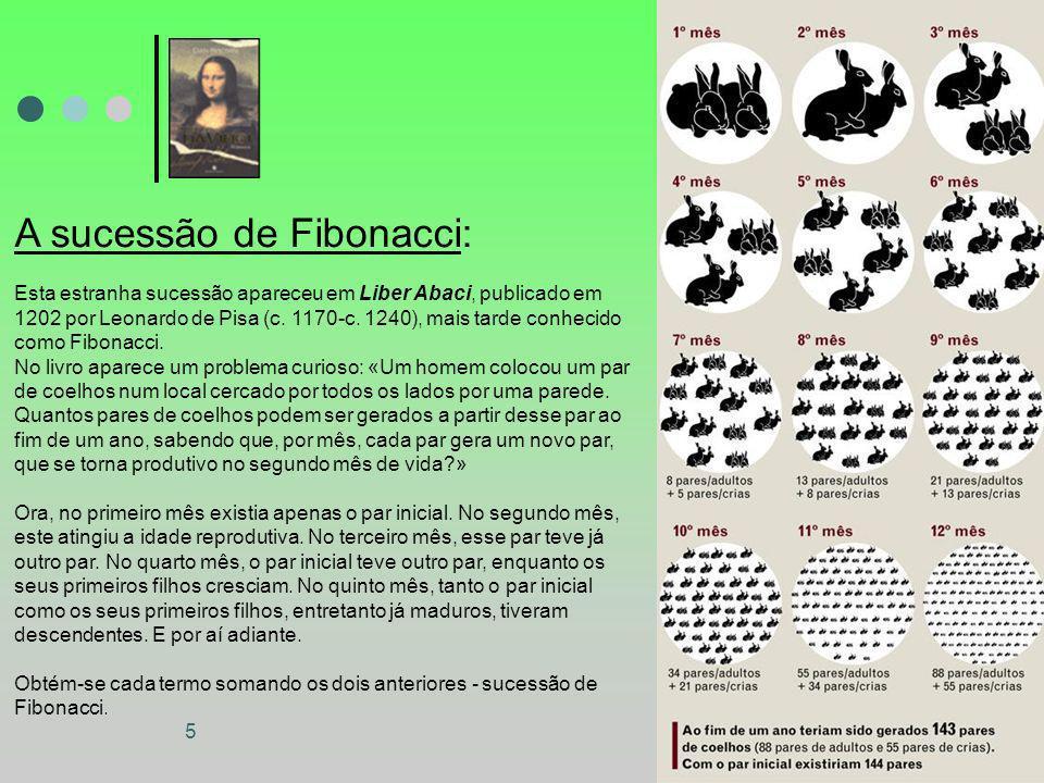 A sucessão de Fibonacci: