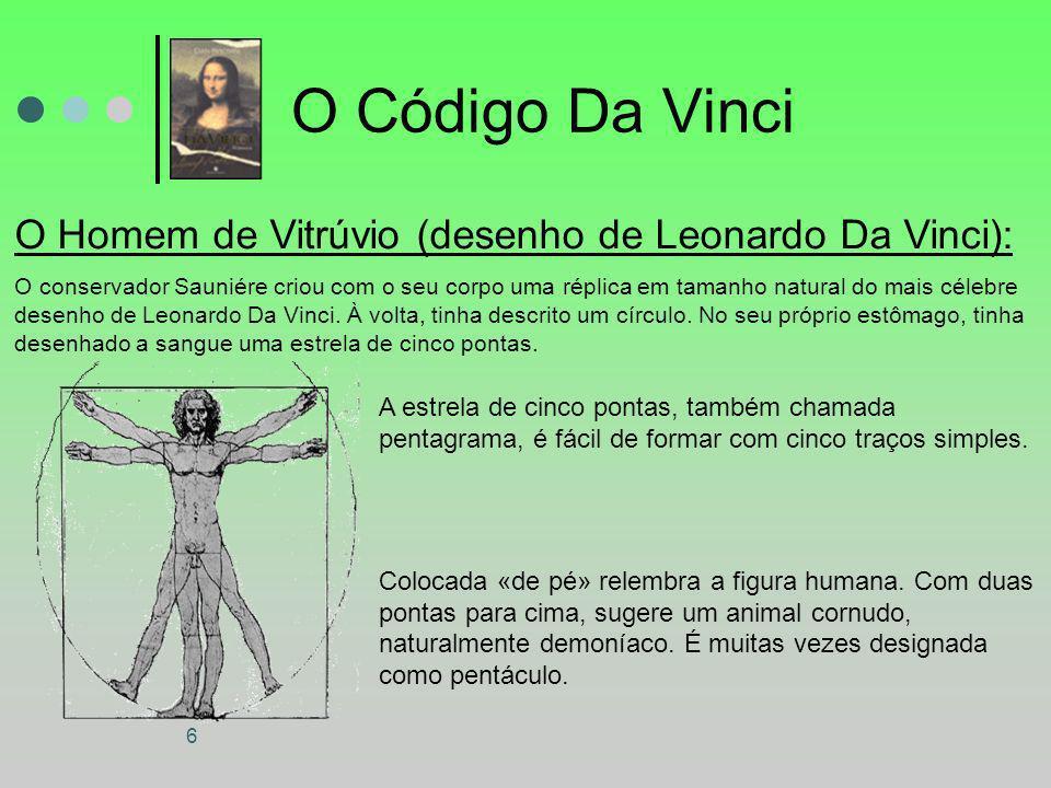 O Código Da Vinci O Homem de Vitrúvio (desenho de Leonardo Da Vinci):