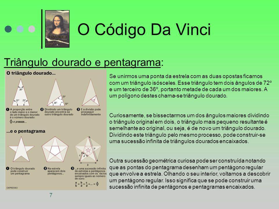 O Código Da Vinci Triângulo dourado e pentagrama:
