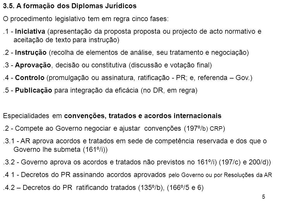 3.5. A formação dos Diplomas Jurídicos