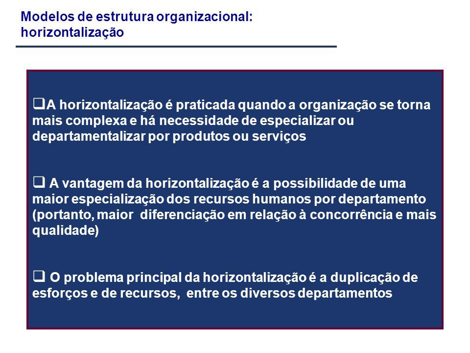 Modelos de estrutura organizacional: horizontalização