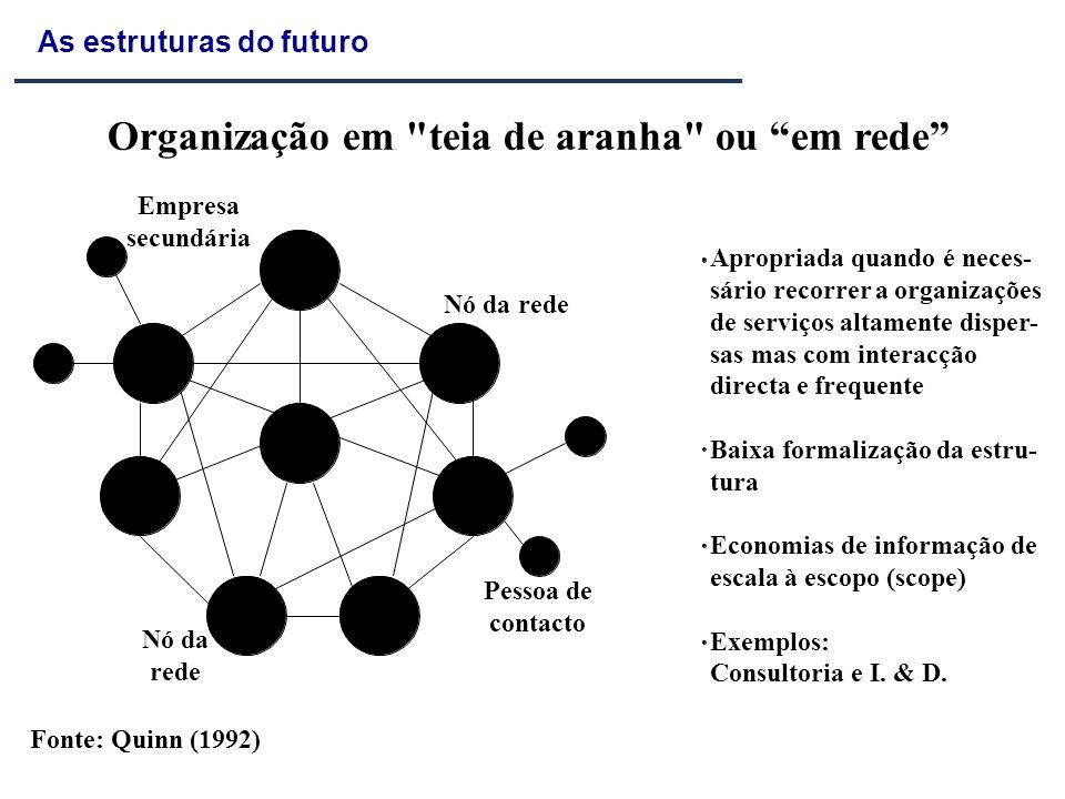 Organização em teia de aranha ou em rede