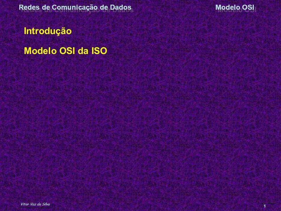 Introdução Modelo OSI da ISO