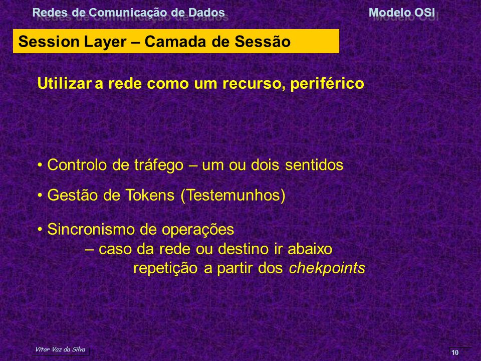 Session Layer – Camada de Sessão