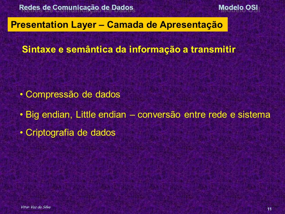 Presentation Layer – Camada de Apresentação