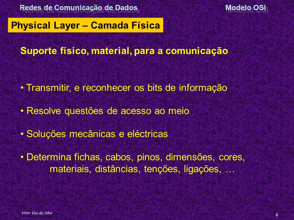 Physical Layer – Camada Física