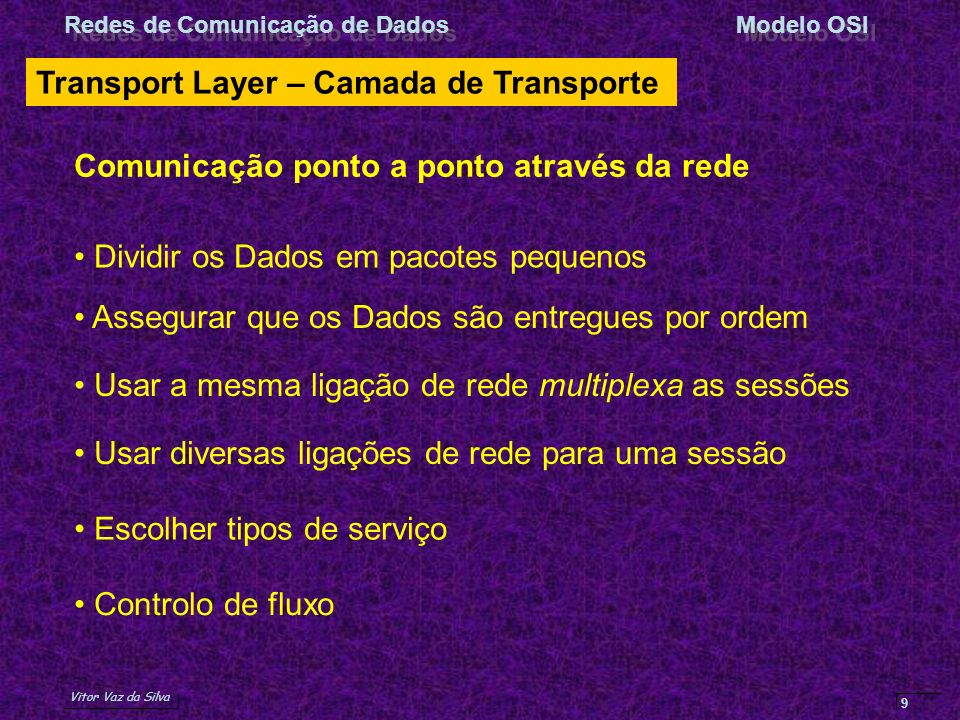 Transport Layer – Camada de Transporte