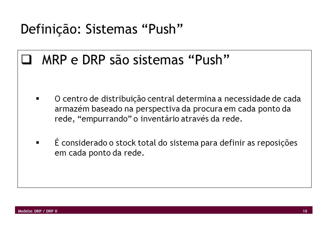 Definição: Sistemas Push