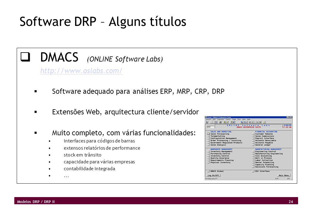 Software DRP – Alguns títulos