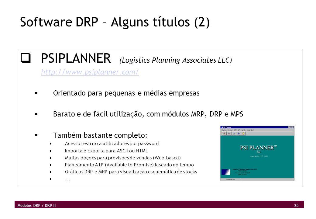 Software DRP – Alguns títulos (2)