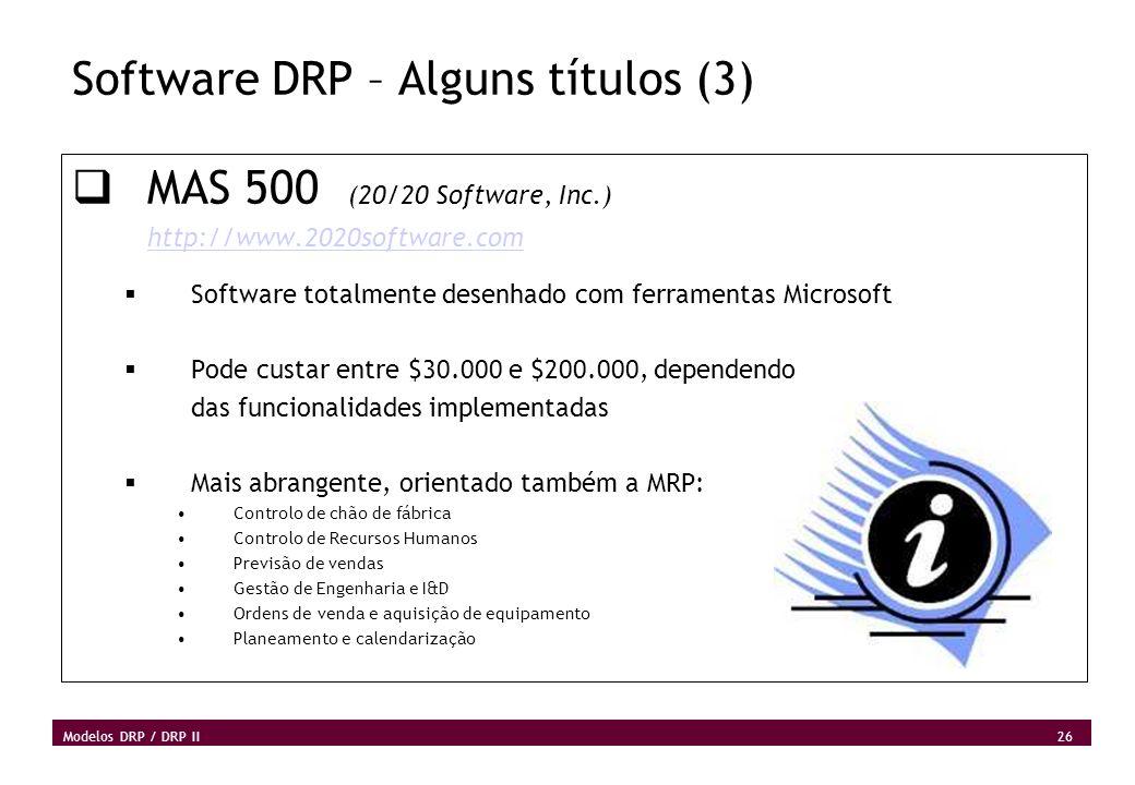 Software DRP – Alguns títulos (3)