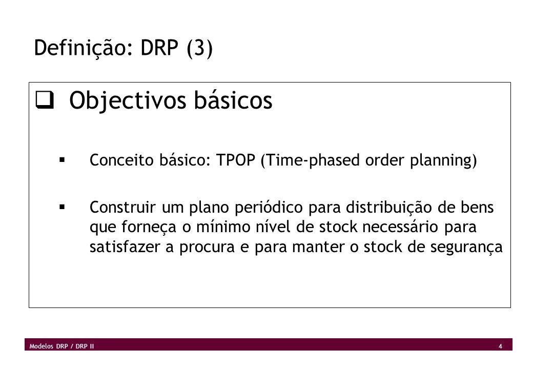 Objectivos básicos Definição: DRP (3)