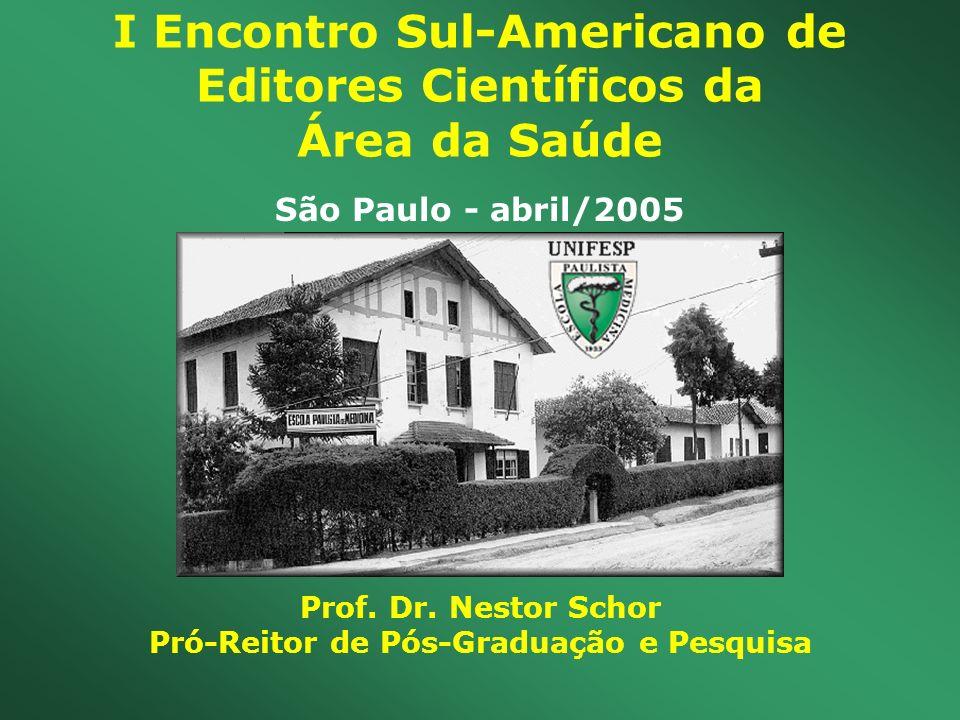 I Encontro Sul-Americano de Editores Científicos da Área da Saúde