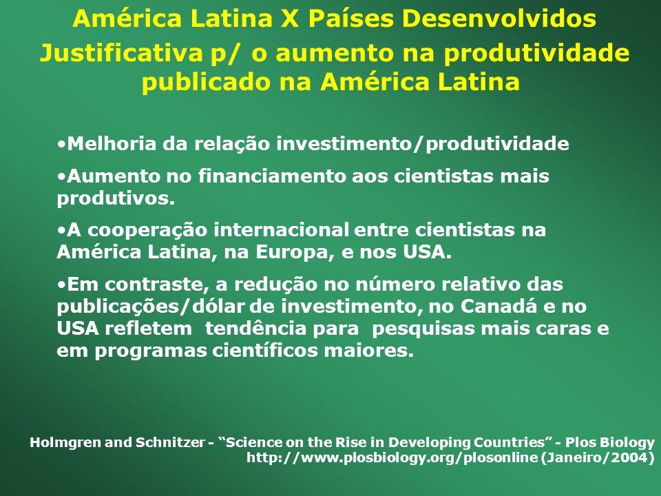 América Latina X Países Desenvolvidos