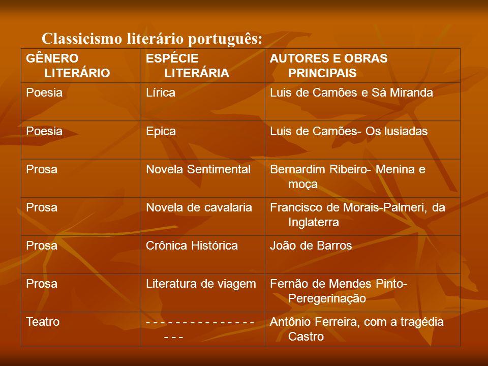 Classicismo literário português: