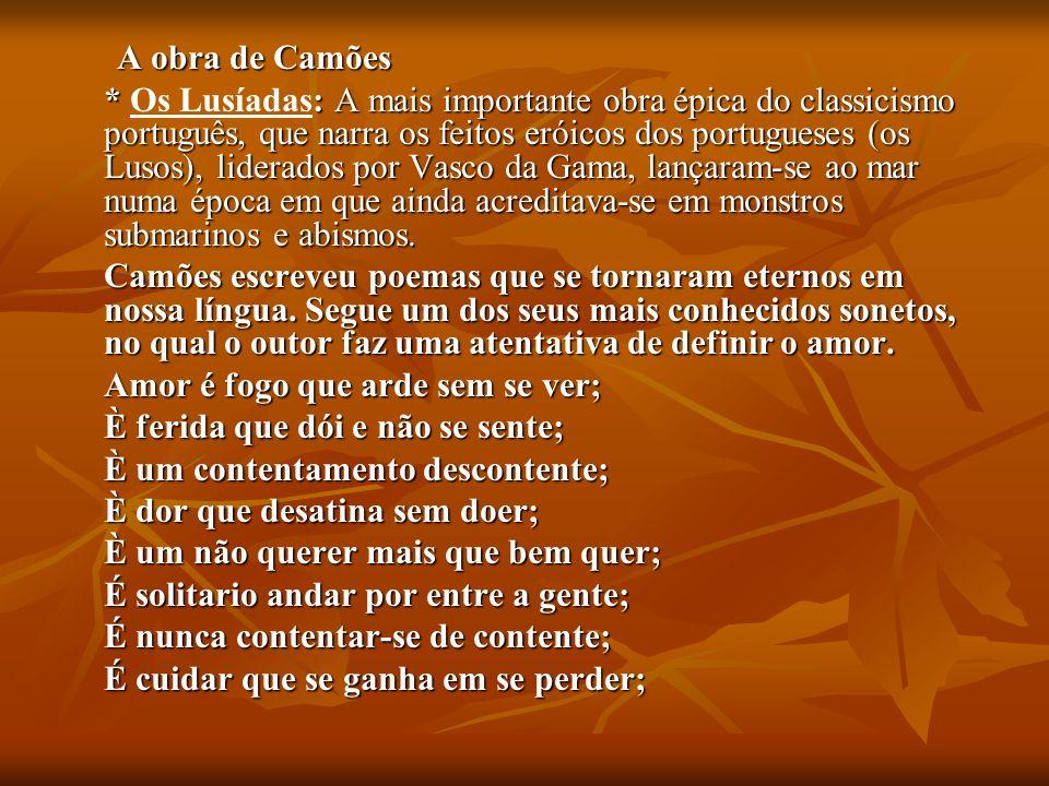 A obra de Camões