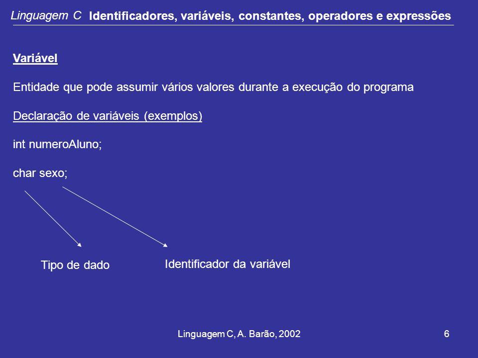 Identificador da variável