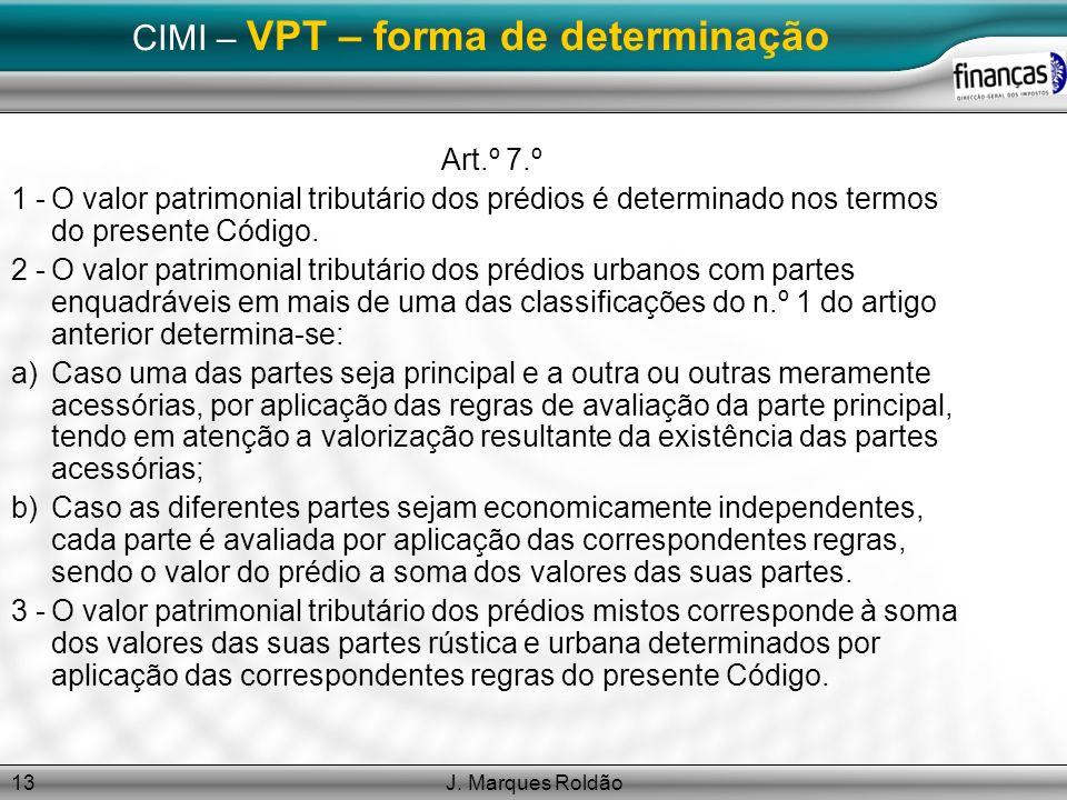 CIMI – VPT – forma de determinação