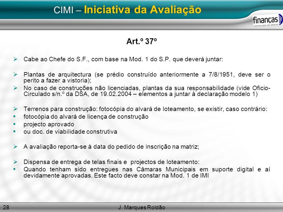 CIMI – Iniciativa da Avaliação