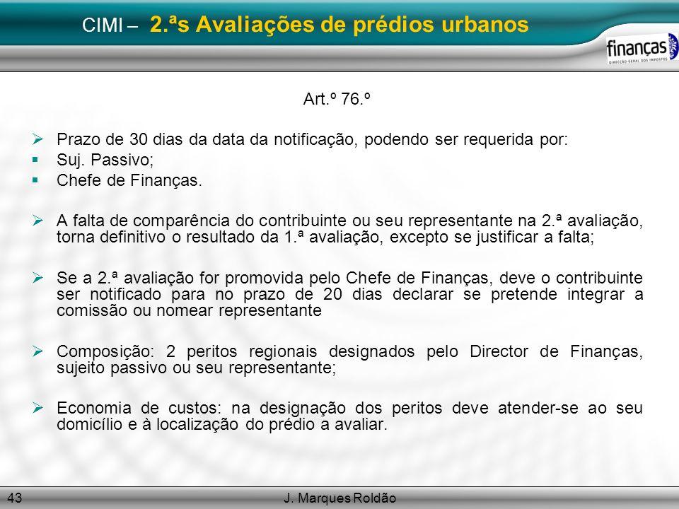 CIMI – 2.ªs Avaliações de prédios urbanos