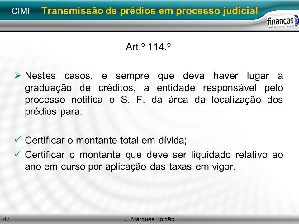 CIMI – Transmissão de prédios em processo judicial
