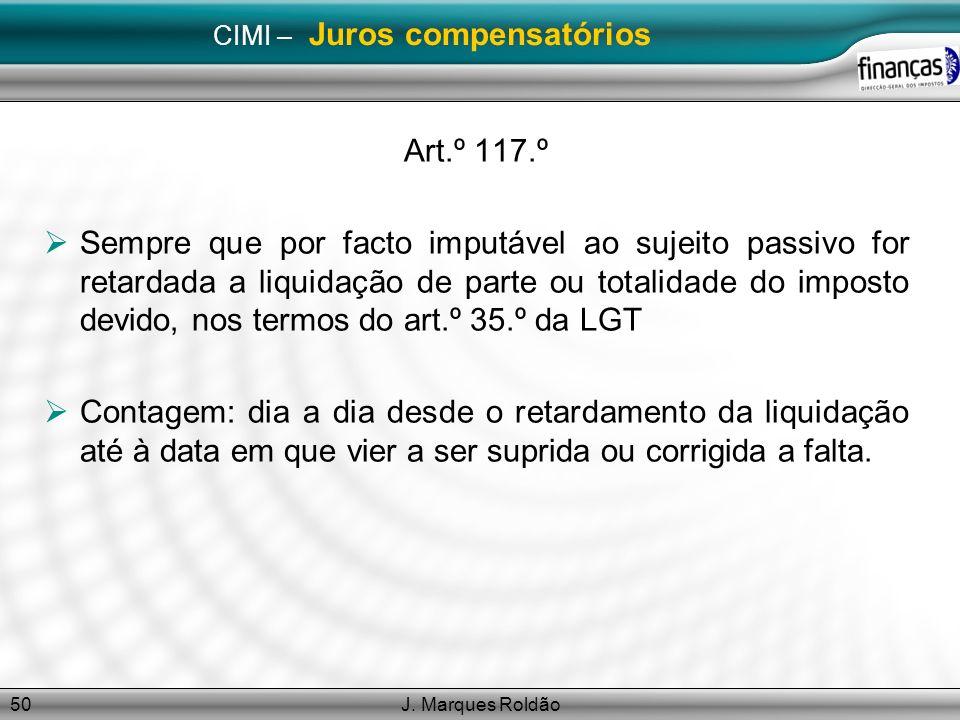 CIMI – Juros compensatórios