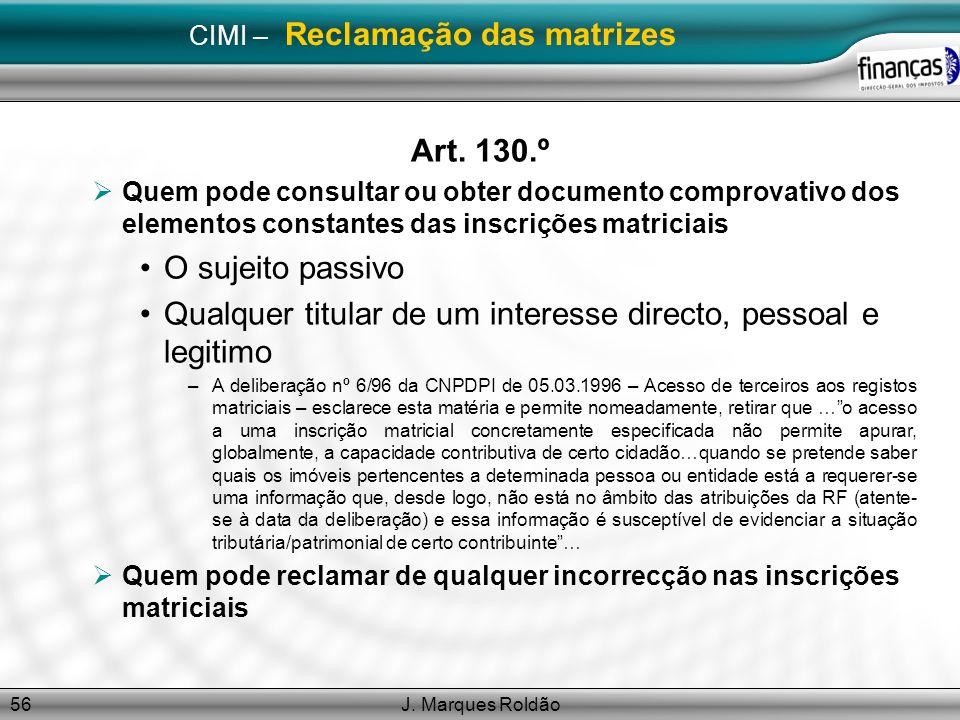 CIMI – Reclamação das matrizes