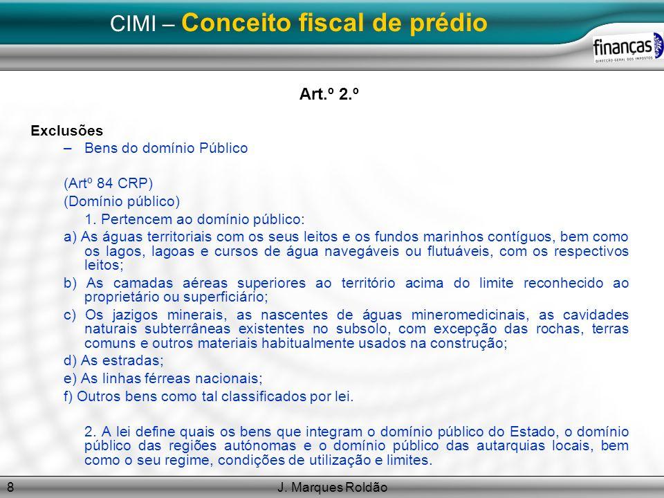 CIMI – Conceito fiscal de prédio