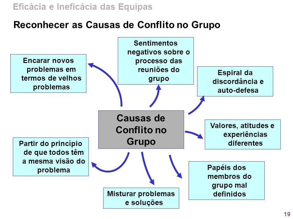 Causas de Conflito no Grupo