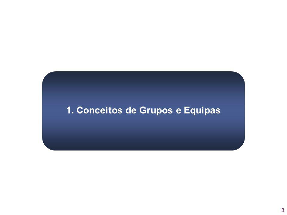 1. Conceitos de Grupos e Equipas