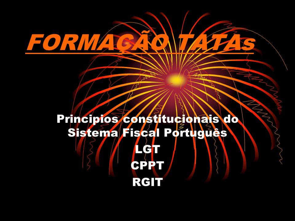 Principios constitucionais do Sistema Fiscal Português LGT CPPT RGIT