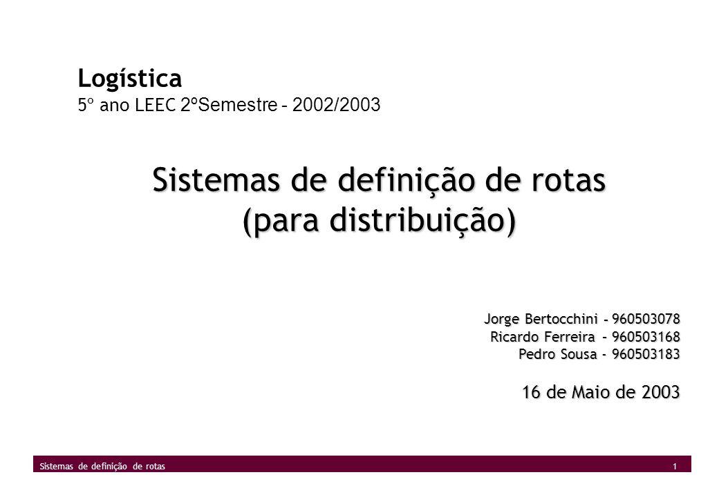 Sistemas de definição de rotas
