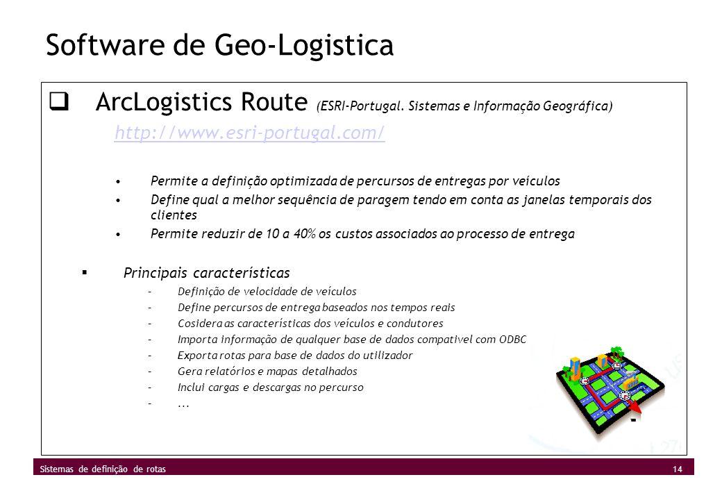 Software de Geo-Logistica