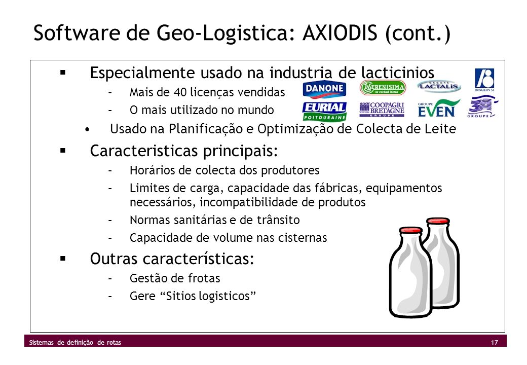 Software de Geo-Logistica: AXIODIS (cont.)