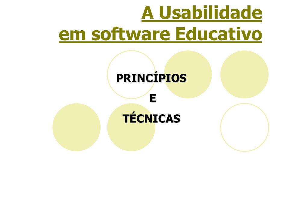 A Usabilidade em software Educativo