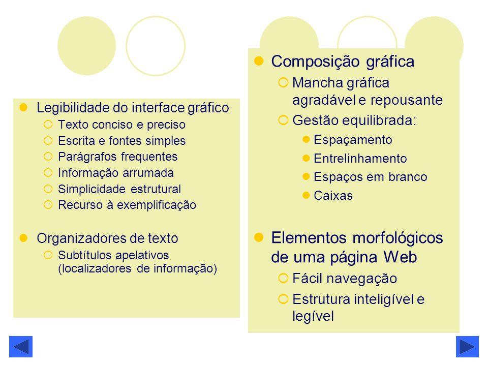 Elementos morfológicos de uma página Web