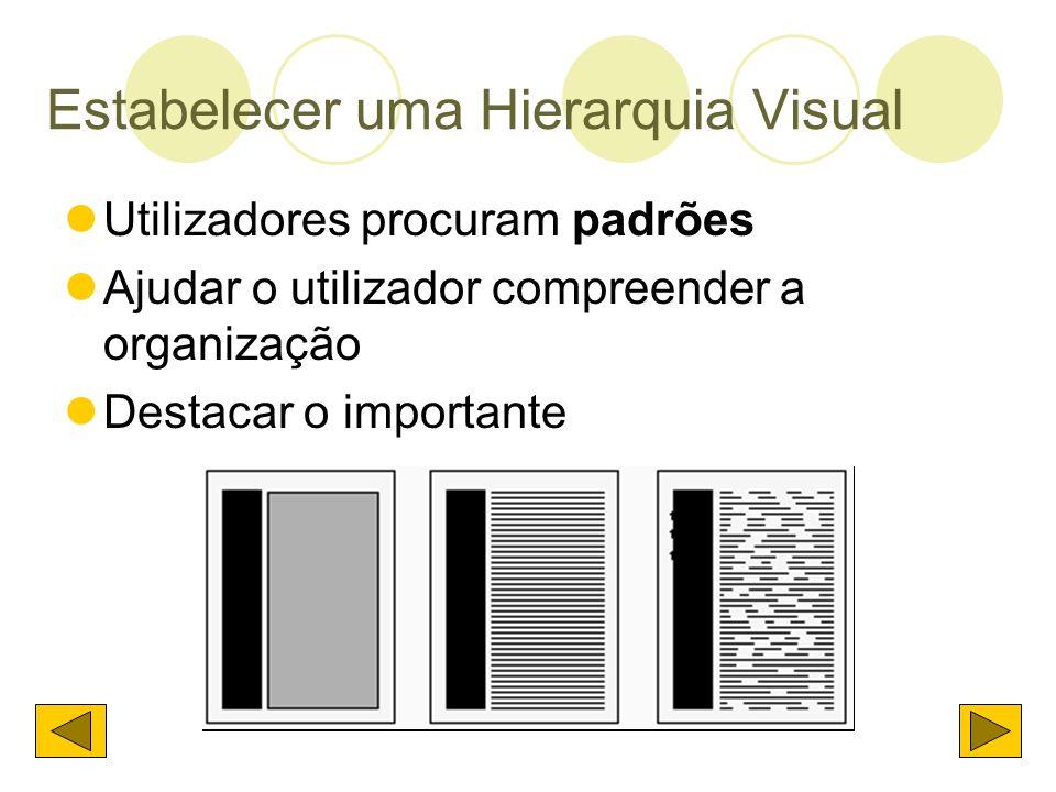 Estabelecer uma Hierarquia Visual