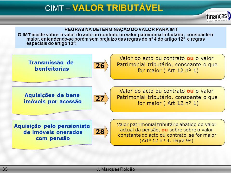 CIMT – VALOR TRIBUTÁVEL