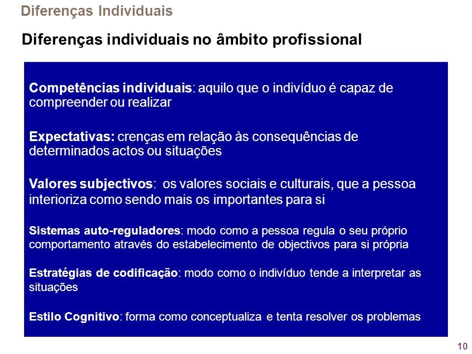 Diferenças individuais no âmbito profissional