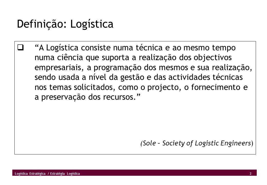 Definição: Logística