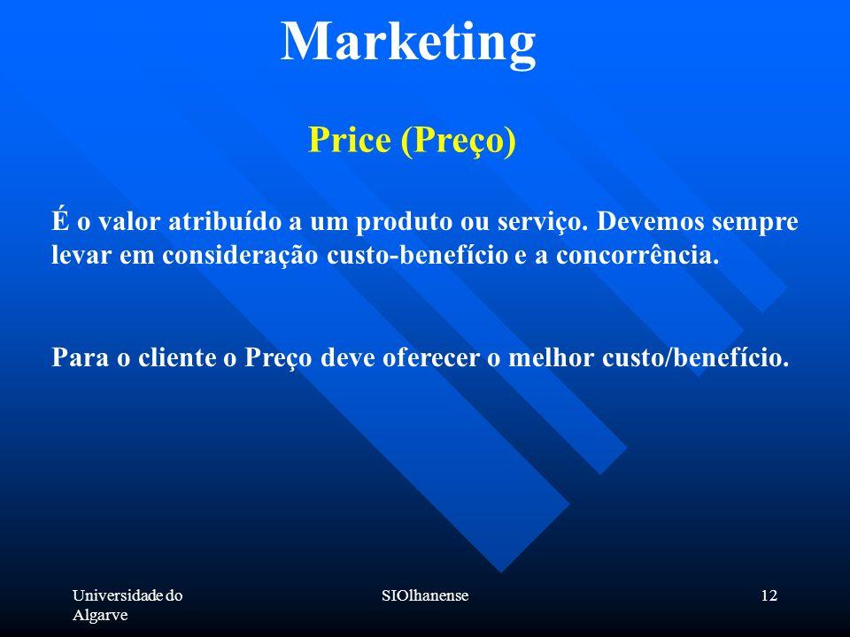 Marketing Price (Preço)