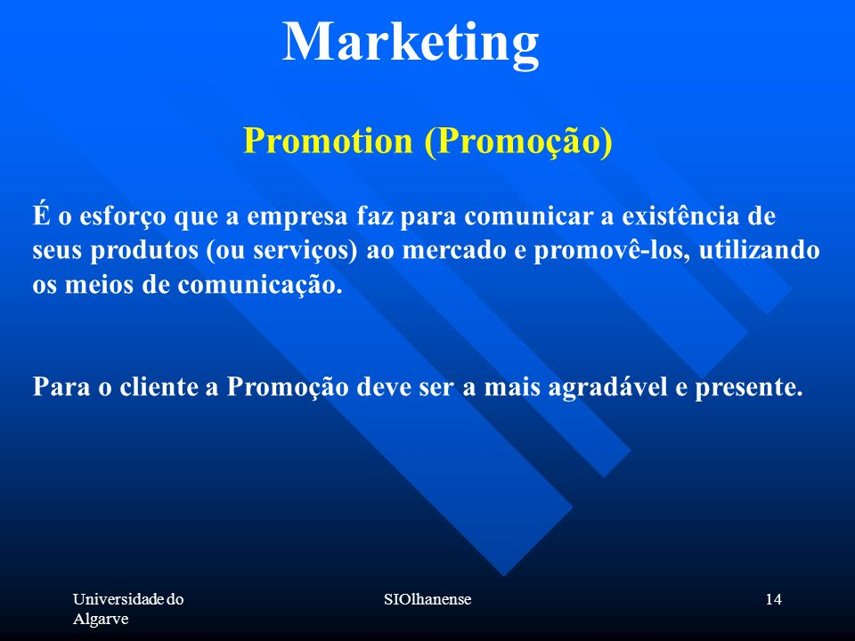 Marketing Promotion (Promoção)