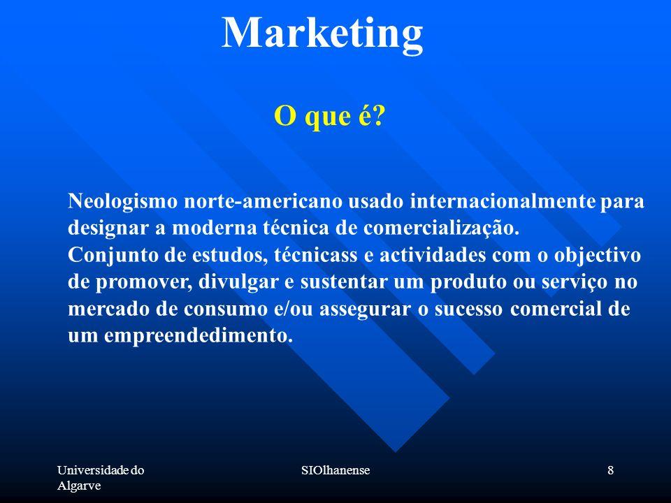 Marketing O que é Neologismo norte-americano usado internacionalmente para designar a moderna técnica de comercialização.