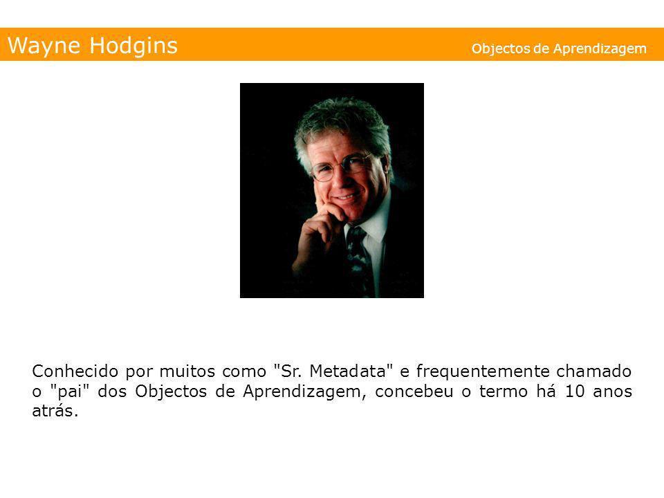 Wayne Hodgins Objectos de Aprendizagem