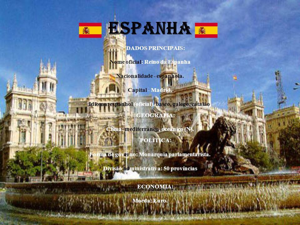 ESPANHA DADOS PRINCIPAIS: Nome oficial: Reino da Espanha