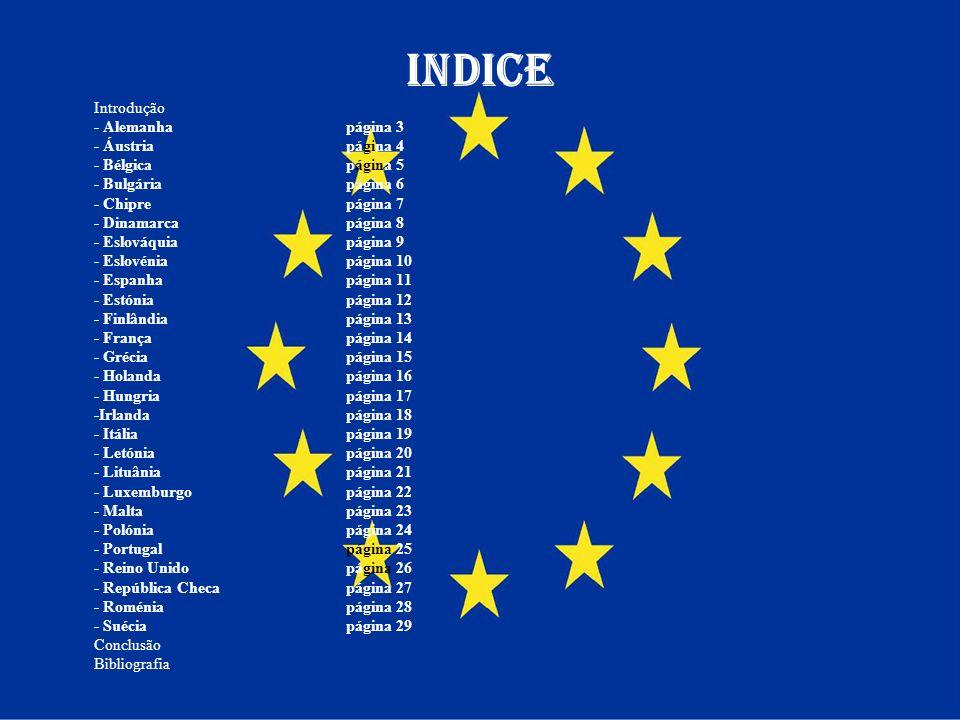 INDICE Introdução - Alemanha página 3 - Áustria página 4