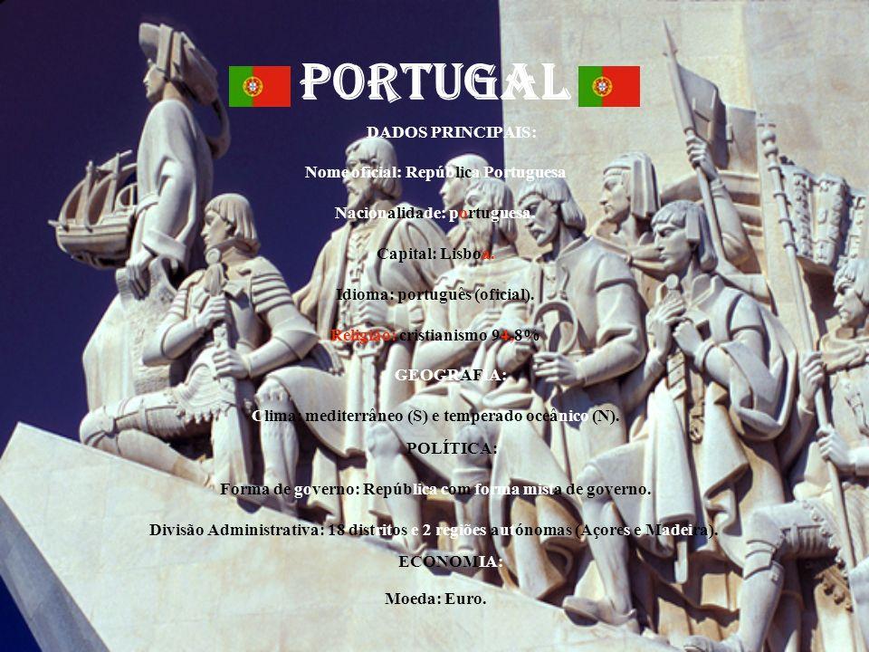 PORTUGAL DADOS PRINCIPAIS: Nome oficial: República Portuguesa